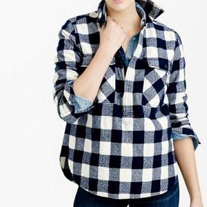 J. CREW BUFFALO CHECK Shirt Jacket Pullover Sz XXS